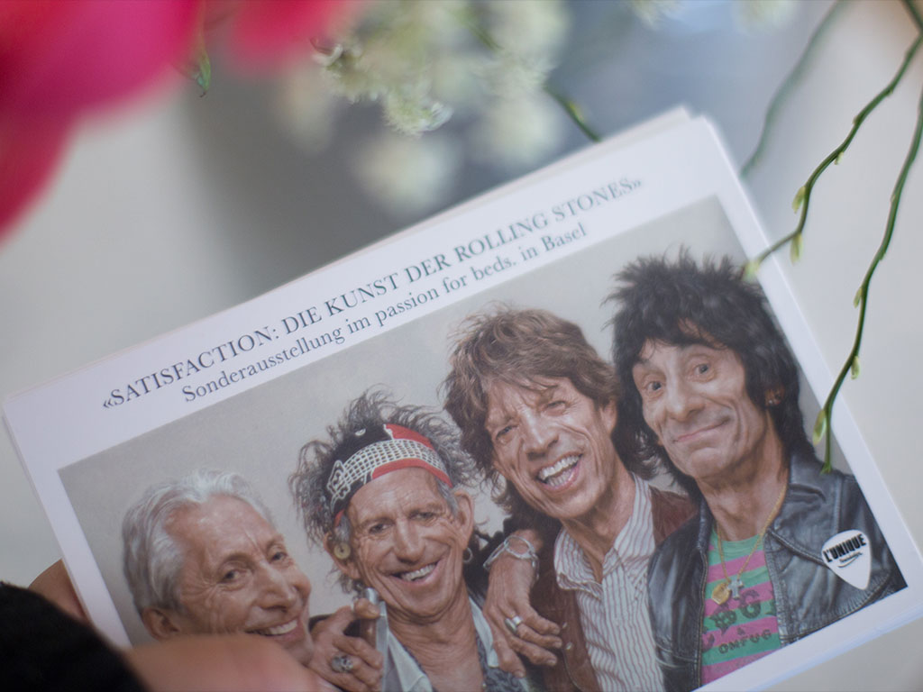 Exklusive Rolling Stones-Ausstellung der Stiftung L'Unique bei Passion for Beds in Basel