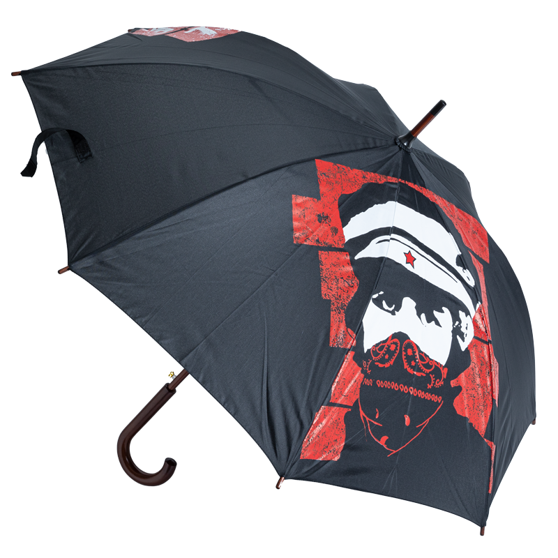 L'Unique Foundation classic wooden umbrella with automatic opening incl. single nylon case with carrying cord.